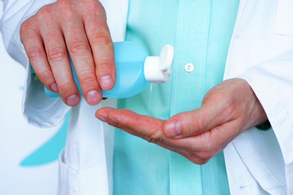 Bild von Händedesinfektion gegen Coronavirus