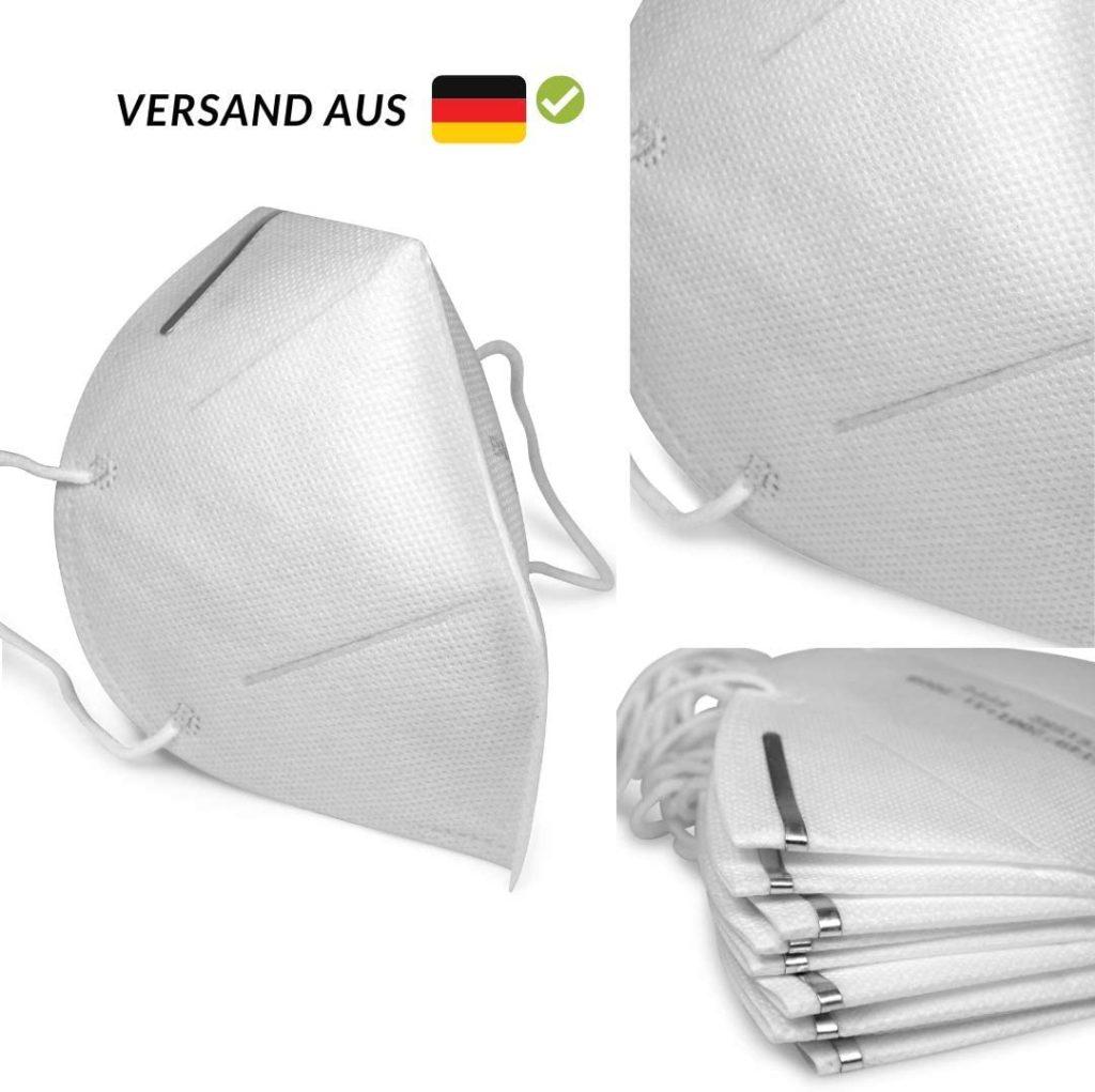Bild von einer FFP2-Atemschutzmaske aus Deutschland gegen den Coronavirus