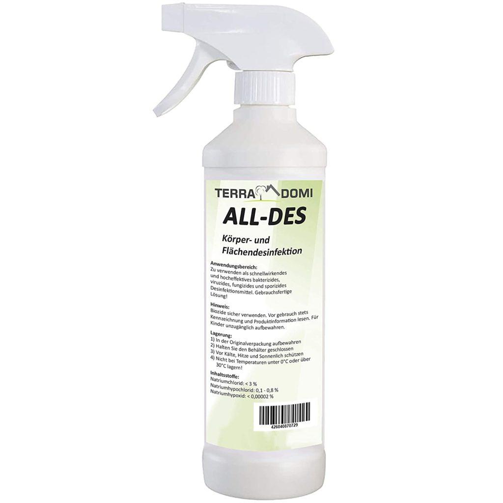 Bild von ALL-DES ein Desinfektionsmittel von TerraDomi